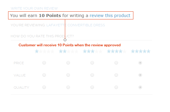 Review product to Get Points